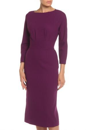 Платье-футляр, миди NATALIA PICARIELLO. Цвет: фиолетовый