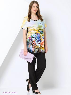 Блузка SVESTA. Цвет: черный, желтый