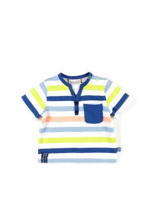 Футболка Coccodrillo. Цвет: синий,салатовый,розовый