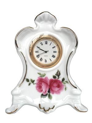 Часы настольные Английская роза. Reutter Porzellan. Цвет: белый, зеленый, красный