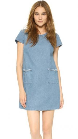 Платье Kara Loup. Цвет: деним