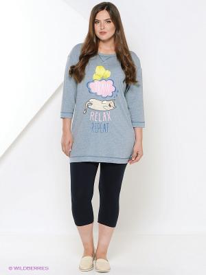 Пижама PELICAN. Цвет: серо-голубой
