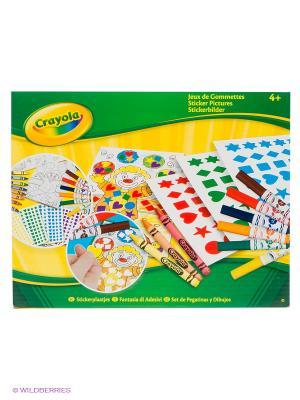 Набор Картинки с наклейками Crayola. Цвет: желтый, зеленый
