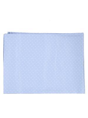 Простынка 110х150, Горошки голубые Soni kids. Цвет: голубой
