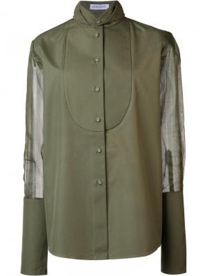 Рубашка Genevive J.W.Anderson. Цвет: зелёный
