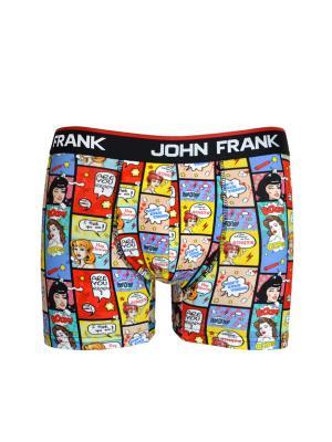 Боксеры мужские JOHN FRANK. Цвет: красный, желтый