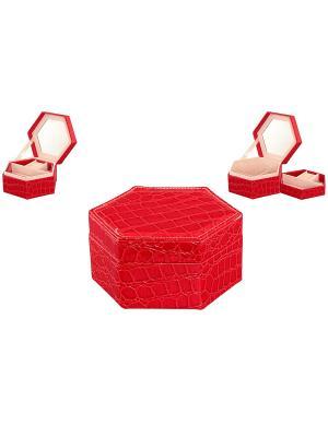 Шкатулка Красный шестигранник Elan Gallery. Цвет: красный