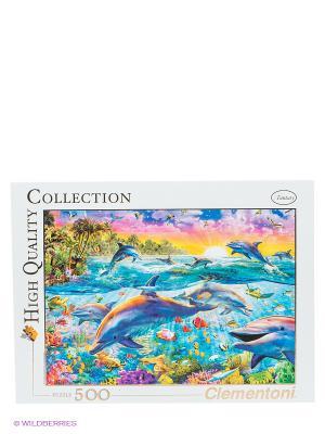 Пазл Адриан Честерман Тропические дельфины Clementoni. Цвет: белый, голубой, розовый