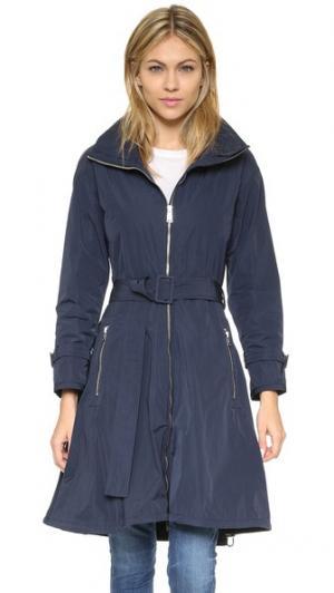 Пальто с юбкой и потайным капюшоном Add Down. Цвет: колониальный