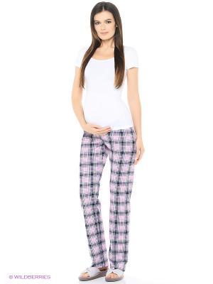 Брюки пижамные женские для беременных Hunny Mammy. Цвет: розовый, синий