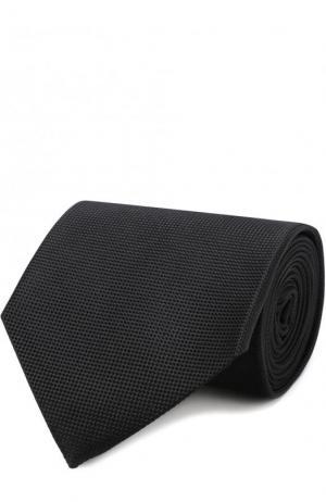 Шелковый галстук Ermenegildo Zegna. Цвет: черный
