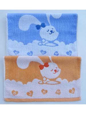 Набор полотенец A and C Collection. Цвет: голубой, оранжевый