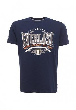 Футболка Everlast. Цвет: синий