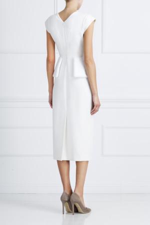 Шерстяное платье NATALIA GART. Цвет: белый