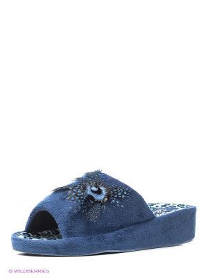 Тапочки Effa. Цвет: синий, белый