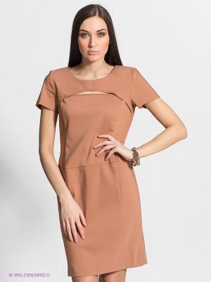 Платье FRACOMINA. Цвет: темно-бежевый
