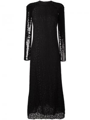 Кружевное платье Giamba. Цвет: чёрный