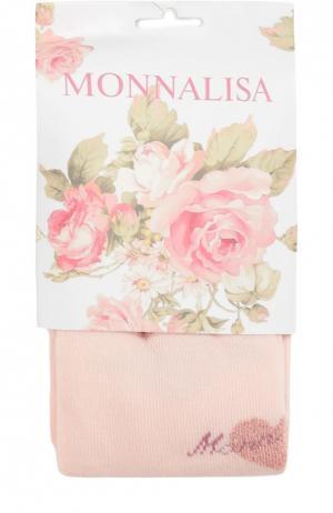 Колготки с рисунком Monnalisa. Цвет: розовый