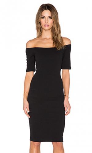 Облегающее платье с открытыми плечами T-Bags LosAngeles. Цвет: черный