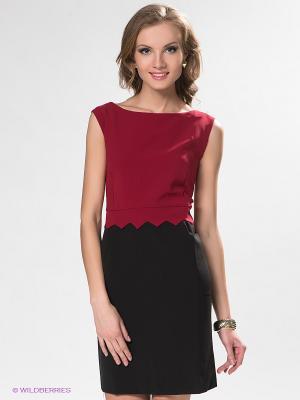 Платье DRS Deerose. Цвет: бордовый, черный