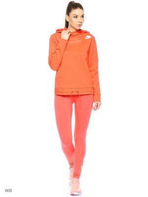 Худи W NSW AV15 HOODIE FZ FLC Nike. Цвет: оранжевый