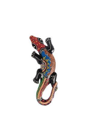 Панно настенное Геккон (албезия, о.Бали) 30см Decor & gift. Цвет: коричневый