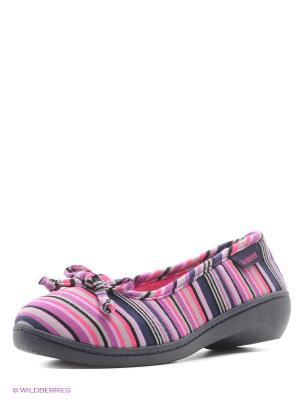 Тапочки Isotoner. Цвет: синий, серый, сиреневый, розовый