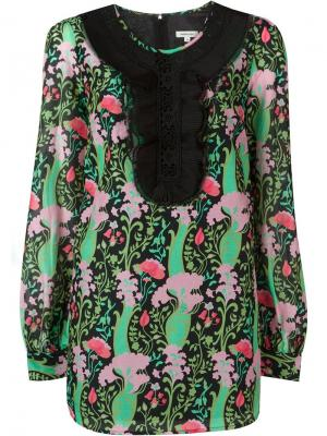 Платье шифт с цветочным принтом Manoush. Цвет: чёрный