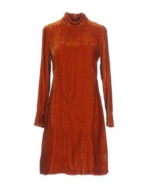 Короткое платье NOLITA. Цвет: ржаво-коричневый