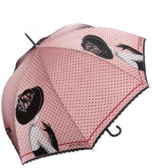 Зонт-трость с двойным куполом FLIORAJ. Цвет: розовый