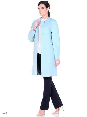 Пальто SHARTREZ. Цвет: светло-голубой