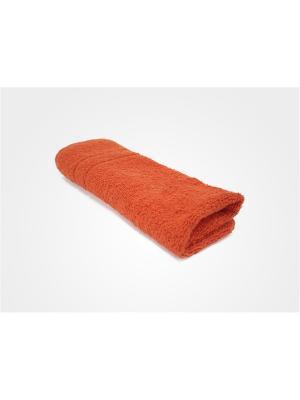 Полотенце махровое PROFFI HOME Модерн, 50х100см, оранжевый. Цвет: оранжевый