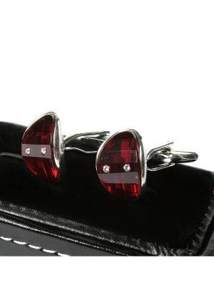 Запонки Franco Frego. Цвет: красный