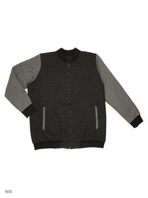 Бомбер IFC. Цвет: черный, серый
