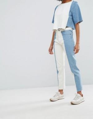 Waven Джинсы в винтажном стиле с контрастными вставками Elsa. Цвет: синий