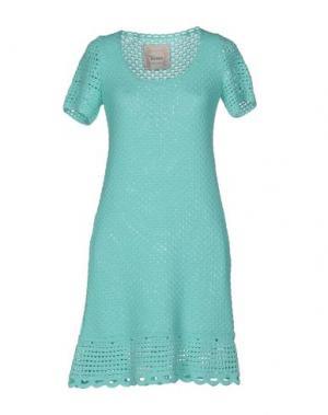 Короткое платье SWEET ROSEE. Цвет: бирюзовый