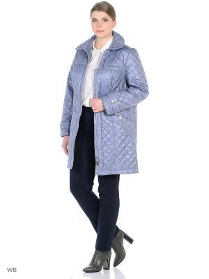 Утепленное пальто MONTSERRAT. Цвет: серо-голубой