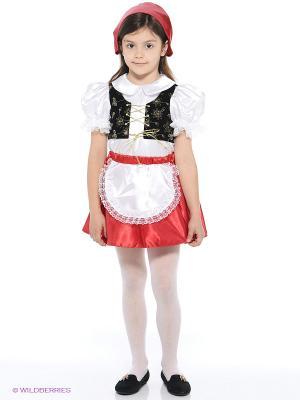 Карнавальный костюм Красная Шапочка Батик. Цвет: красный, белый