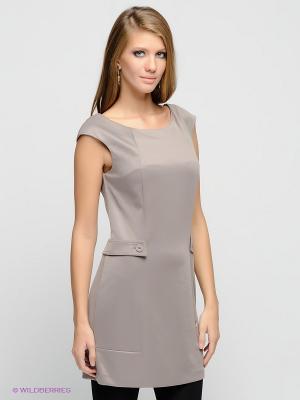 Платье FRACOMINA. Цвет: бежевый