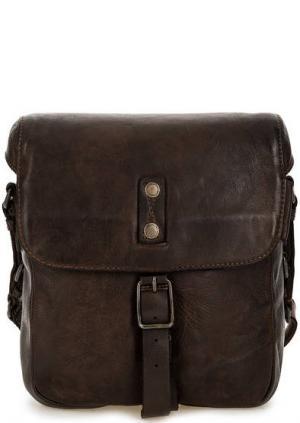 Маленькая кожаная сумка с откидным клапаном aunts & uncles. Цвет: коричневый