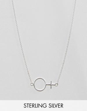 Monki Серебряное ожерелье. Цвет: серебряный