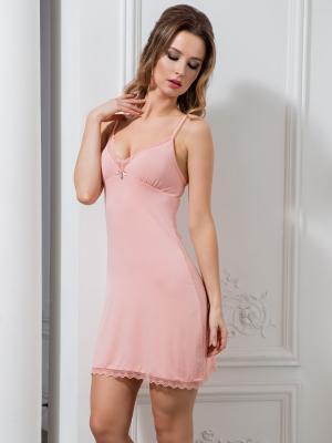 Ночная сорочка MIA-MELLA. Цвет: бледно-розовый