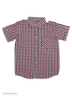 Рубашка Stilnyashka. Цвет: красный, белый, синий