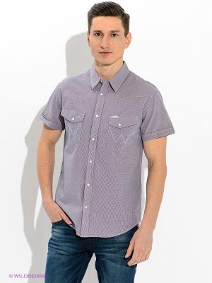 Рубашка Wrangler. Цвет: фиолетовый