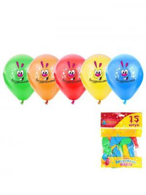Набор воздушных шаров А М Дизайн. Цвет: желтый, малиновый, светло-зеленый, светло-оранжевый, синий