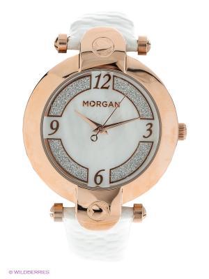 Часы Morgan. Цвет: белый, золотистый