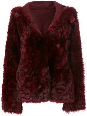 Куртка с капюшоном Henry Beguelin. Цвет: розовый и фиолетовый