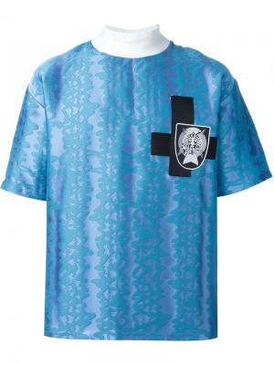 Жаккардовая футболка Liam Hodges. Цвет: синий