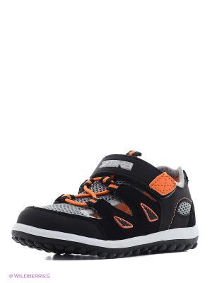 Полуботинки дошкольные кроссовые Зебра. Цвет: оранжевый