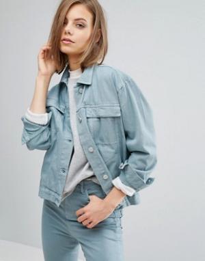 Waven Джинсовая куртка Karin. Цвет: зеленый